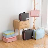 加厚有型旅行收納袋行李整理包手提旅游衣物收納包鞋子內衣整理袋 藍嵐