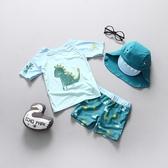 韓國兒童泳衣男童寶寶嬰兒游泳衣小童游泳分體中童防曬沖浪服套裝