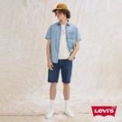 Levis 男款 上寬下窄 405牛仔短褲 / 深藍基本款