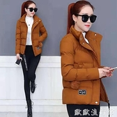 羽絨外套 冬季新款加厚保暖羽絨棉服韓版時尚寬鬆百搭棉衣女短款小棉襖外套 歐歐