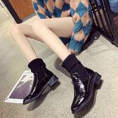 中筒靴 女鞋馬丁靴女中筒靴短靴靴網紅彈力靴 格蘭小舖