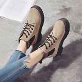 馬丁靴女英倫風新款春秋季復古平底學生正韓百搭短靴女冬靴子
