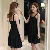 吊帶裙短款黑色性感連身裙夜店女裝新款一字領赫本小黑裙  童趣潮品