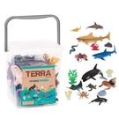 美國 TERRA 海洋世界(情境桶)動物玩具
