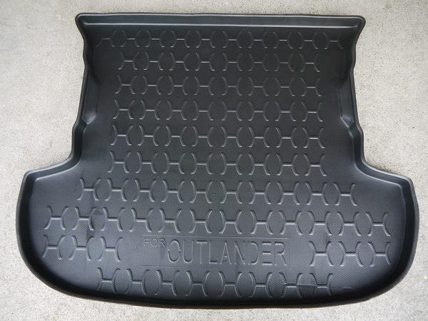 台灣製 周邊加高型 三菱 14年 OUTLANDER 五人 專用 防水托盤 密合度高 防水材質 後廂墊