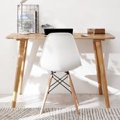 書桌台 書桌實木簡約電腦桌台式家用北歐現代臥室寫字台學習桌辦公桌子【美物居家館】