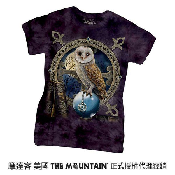 【摩達客】(現貨)美國進口The Mountain 咒語貓頭鷹 短袖女版T恤精梳棉環保染(12516045017)