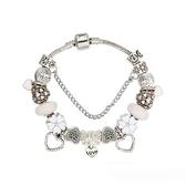 串珠手環-白色系列琉璃飾品精美鑲鑽女配件73kc80【時尚巴黎】