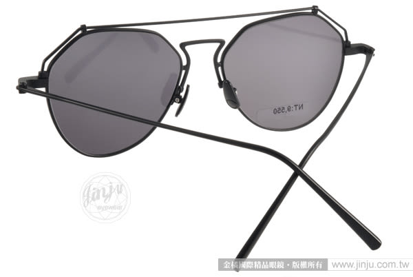 STEALER 太陽眼鏡 BEAM C01M (黑-白) 摩登時尚造型水銀鏡面款 # 金橘眼鏡