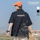 短袖襯衫 日系夜光飛碟印花短袖襯衫【TJH1559】現貨+預購 Doppler