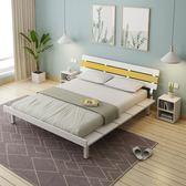 現代簡約日韓式榻榻米床1.2m單人床架1.8米雙人主臥床1.5M板式床WY【全館免運八五折任搶】