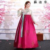 韓服成人傳統女宮廷禮服大長今朝鮮服裝-蘇迪奈