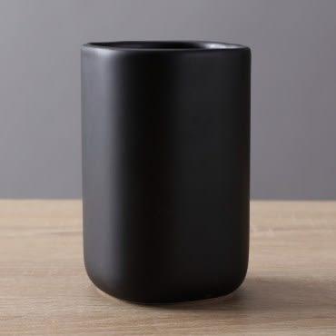 HOLA home羅夫特陶瓷漱口杯 黑色