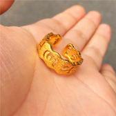 歐幣沙金戒指仿金開口戒指情侶六字箴言戒指結婚鍍金指環