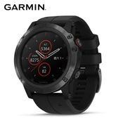 Garmin fenix 5X Plus 行動支付音樂GPS複合式心率腕錶 (石墨灰-矽)