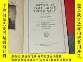 二手書博民逛書店1942年出版《thin罕見paper-websters col