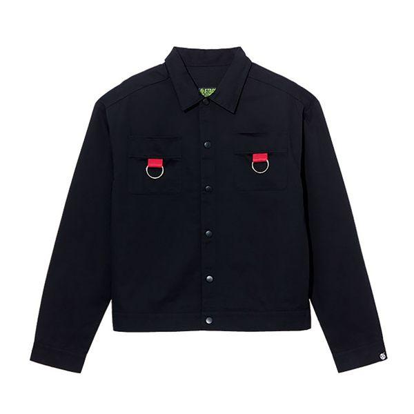 金屬雙環落肩寬版襯衫 STAGE 2 RINGS SHIRT 黑色