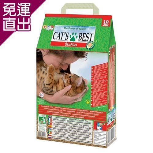 CATS BEST德國凱優 低粉塵細顆粒 凝結木屑砂-紅標10L X 1入【免運直出】