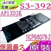 ACER  AP13D3K 電池(原廠)-宏碁 AP13D3K,  S3 ,S3-392 ,S3-392G ,AP13D3K,1ICP6/60/78-2,1ICP5/60/80-2