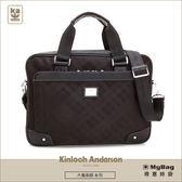 Kinloch Anderson 金安德森 公事包 大魔術師 黑色 雙拉鍊側背包  KA167002BKF MyBag得意時袋