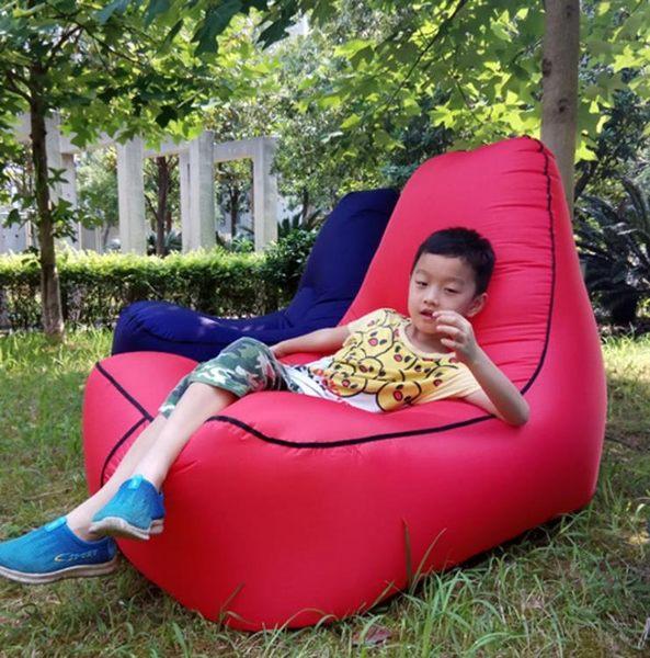 【雙11 大促】戶外快速充氣床吹氣椅成人睡袋懶人沙發野外休閒折疊口袋空氣沙發