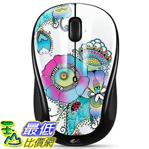 [美國直購] Logitech 滑鼠 M317 Lady on the Lily Mouse - Multicolor (910-003702)