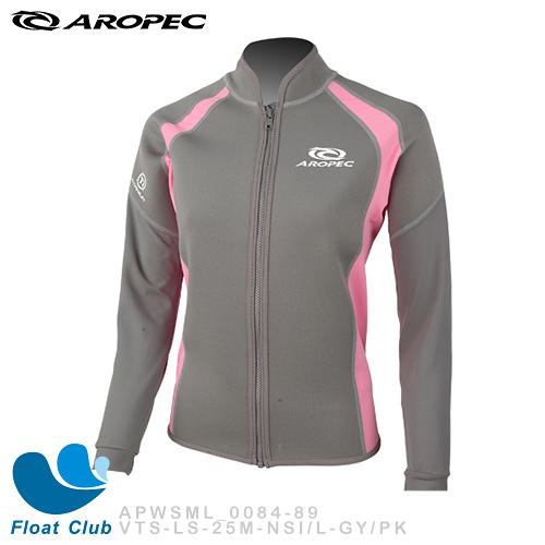 【零碼出清】AROPEC#L 女款1mm 鈦元素保暖游泳外套 灰/粉 - 海鷗 (恕不退換貨)