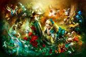 【拼圖總動員 PUZZLE STORY】愛麗絲的回憶(作者:溝口周一) 日本進口拼圖/AppleOne/繪畫/1000P/夜光