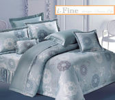 【免運】精梳棉 雙人加大 薄床包(含枕套) 台灣精製 ~時尚花筒-藍/米~ i-Fine艾芳生活