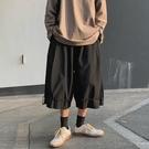 夏季高街ins潮牌闊腿7七分褲男日系褲子韓版潮流工裝短褲寬鬆直筒 設計師
