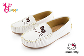 Hello kitty 童休閒鞋 荔枝皮花邊豆豆鞋G7975#白色◆OSOME奧森鞋業