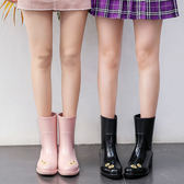 MAIYU 向日葵雨靴女成人韓國時尚雨鞋可愛中筒水鞋夏季防滑水靴潮『小淇嚴選』