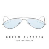 歐美小框士太陽鏡 個性貓眼眼鏡 金屬太陽眼鏡【五巷六號】y44