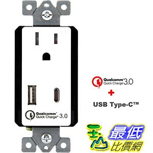 [107美國直購] 插座 TOPGREENER Quick Charge 3.0 USB Wall Charger Outlet 15 Amp Dual Power Receptacle
