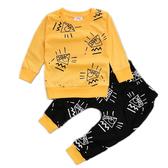 嬰兒長袖套裝 金字塔塗鴉 長袖上衣 棉質收口長褲 棉質家居服 SK203 好娃娃