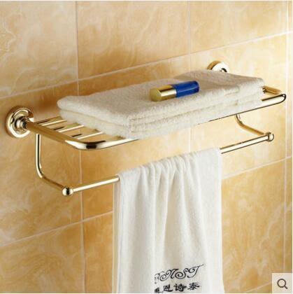 仿古折疊浴巾架 全銅黑色毛巾架 浴室挂件五金置物掛架