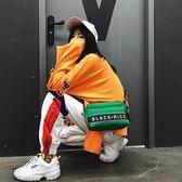 歐美街頭嘻哈工裝潮牌單肩斜挎包男女便攜原宿蹦迪迷你小背包 居享優品