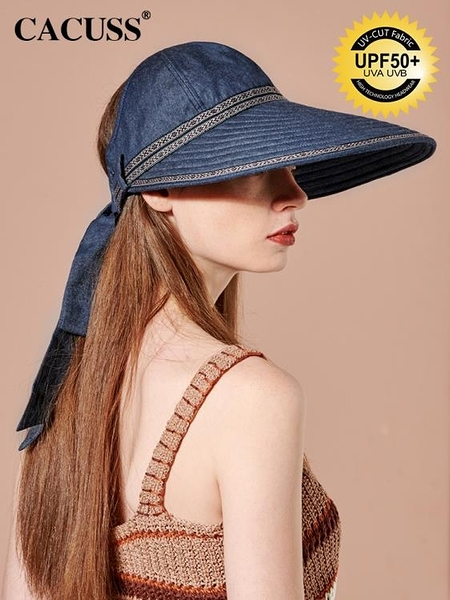 牛仔帽帽子女夏季韓版防紫外線戶外太陽帽女遮臉防曬帽沙灘遮陽帽女 嬡孕哺