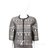 MAX MARA-WEEKEND 灰色燙金幾何印花五分袖外套 1540881-06
