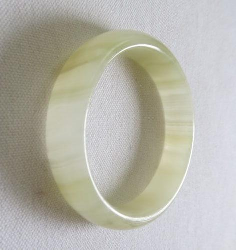 青白玉手鐲#0399  59.7mm
