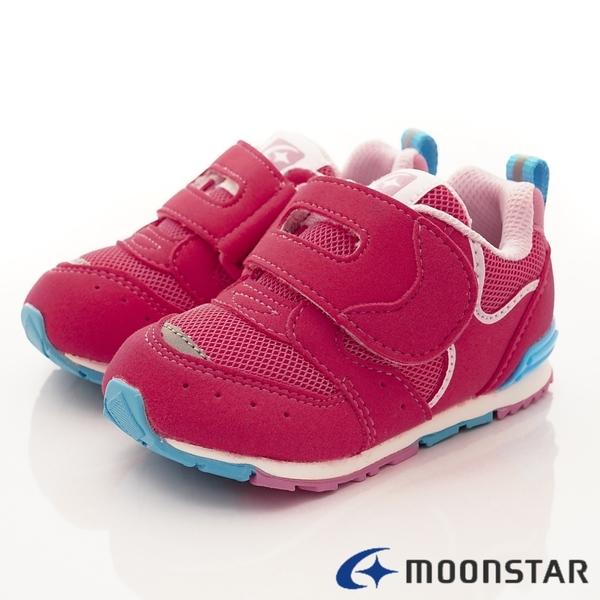 日本月星Moonstar機能童鞋HI系列2E穩定款-MSB1212桃紅(寶寶段)