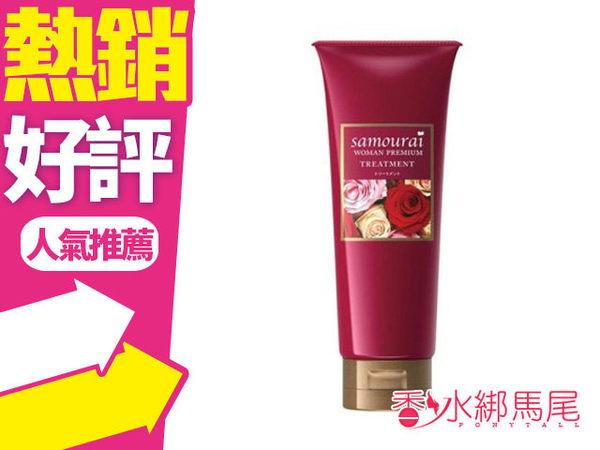 日本製 SAMOURAI woman 千朵玫瑰極上奢華護髮素 200G◐香水綁馬尾◐