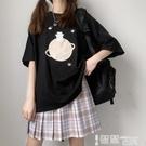 短袖T恤 原創小熊星球印花可愛日系少女上衣寬鬆韓版學生純棉短袖T恤女ins 智慧 618狂歡
