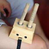 真艾堂雙孔加厚竹製艾灸盒艾灸器木製隨身灸2孔溫灸盒家用艾灸罐  檸檬衣舍