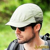 防曬帽子-抗紫外線UV防潑水遮陽可收納式披風鴨舌帽J7242 JUNIPER朱尼博