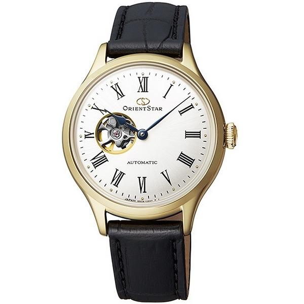 【台南 時代鐘錶 ORIENT STAR】東方之星 RE-ND0004S 經典縷空機械錶 皮帶 金 30mm