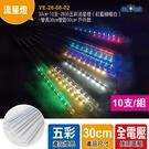 30cm-10支-2835五彩流星燈(紅藍綠暖白)-管長30cm管距30cm-戶外款(YE-26-06-02)
