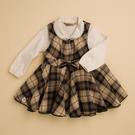 台灣生產製造  KA經典格紋氣質女童裙子套裝(共二色)