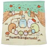 〔小禮堂〕角落生物 純棉割絨方形毛巾《黃綠.蘋果樹》34x35cm.方巾 4985036-17706