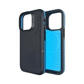 【南紡購物中心】Gear4 Apple iPhone 13 Pro(6.1吋)軍規防摔保護殼-溫哥華黑藍條紋磁吸款